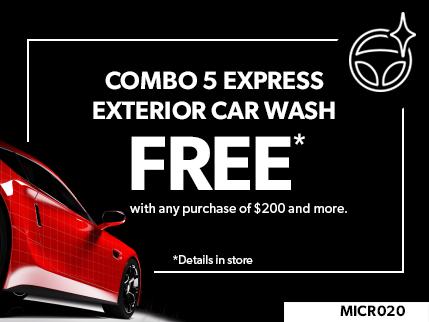 MICR020 - Combo 5 express exterior car wash FREE