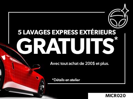 MICR020 - 5 Lavages Express Extérieurs GRATUITS