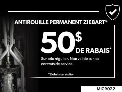 MICR022 - Antirouille Permanent Ziebart 50$ off de rabais