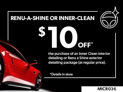 MICR036 - Renu a shine or Inner-clean $10 OFF