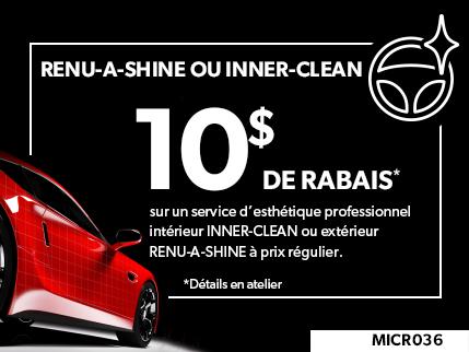 MICR036 - Renu a shine ou Inner-clean $10 DE RABAIS
