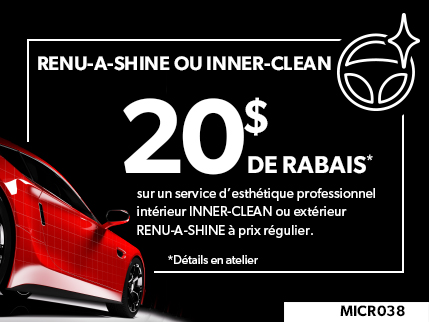 MICR038 - Renu-a-shine ou Inner-clean 20$ de rabais