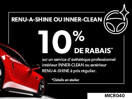 MICR040 - RENU-A-SHINE® or INNER-CLEAN® 10% de rabais sur le prix régulier à l'achat de décorations intérieures ou extérieures professionnelles