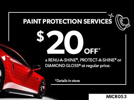 MICR053 - PAINT PROTECTION SERVICES $20 OFF