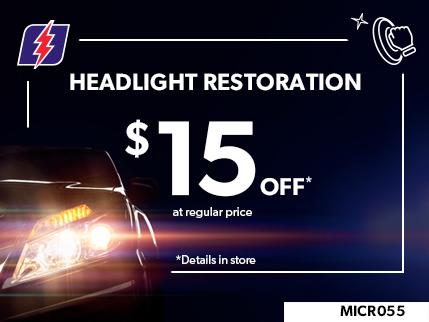MICR055 - HEADLIGHT RESTORATION $15 OFF