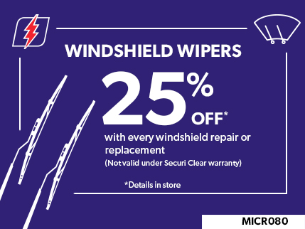 MICR080 - Windshield wipers 25% off