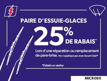 MICR080 - Paire D'essuie-glaces 25% de rabais