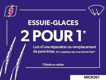 MICR081 - Essuie-Glaces 2 POUR 1