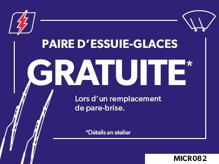 MICR082 - Paire D'essuie-glaces GRATUITE