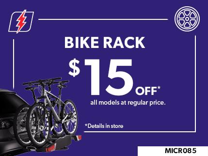 MICR085 - Bike rack 15$ off