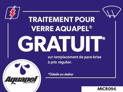 MICR096 - Traitement pour verre Aquapel GRATUIT