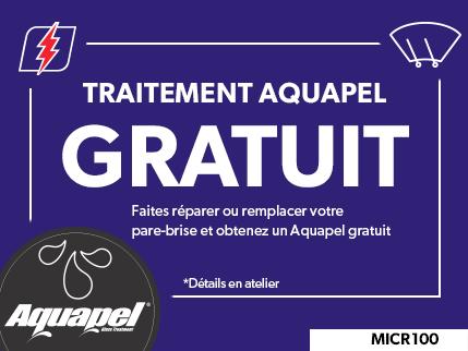 MICR100 - Traitement pour verre Aquapel GRATUIT