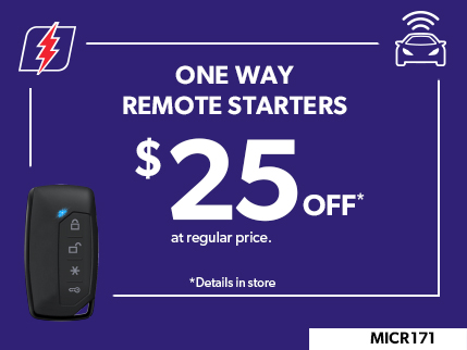 MICR171 - ONE WAY REMOTE STARTERS  $25 OFF
