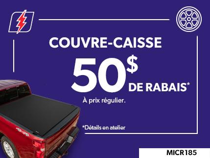 MICR185 - COUVRE-CAISSE $50 DE RABAIS