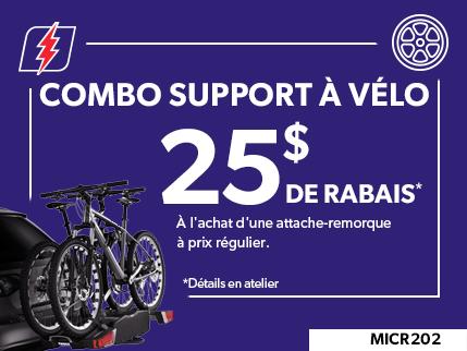 MICR202- COMBO SUPPORT À VÈLO $25 DE RABAIS