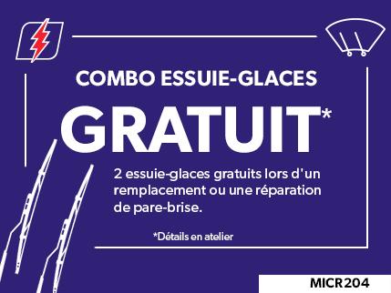 MICR204 - Combo Essuie-glaces GRATUIT
