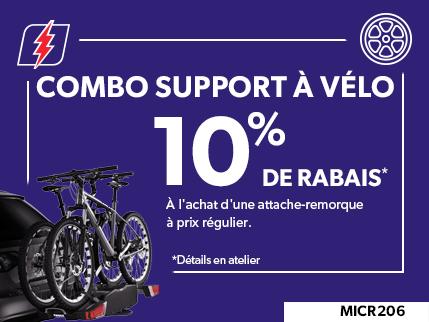 MICR206 - COMBO SUPPORT À VÈLO 10% DE RABAIS